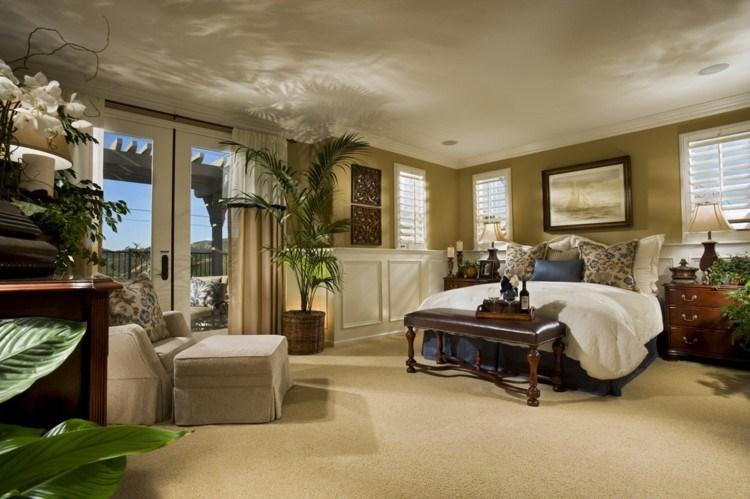 bonito diseño habitación retro tropical