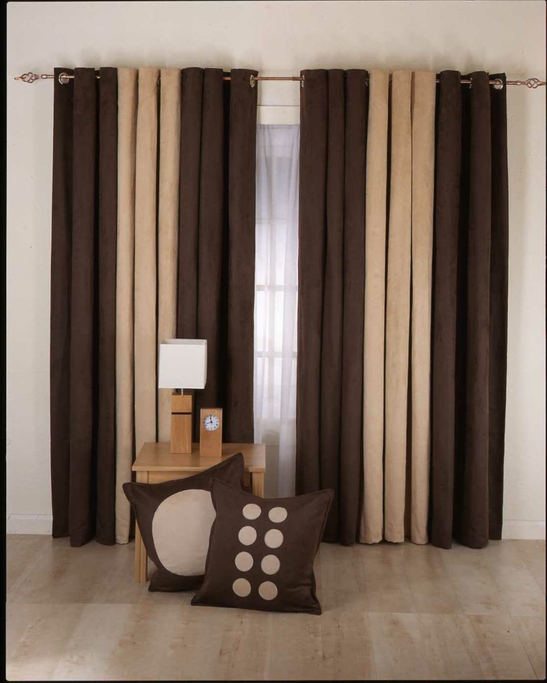 bonito diseño cortinas modernas marrones