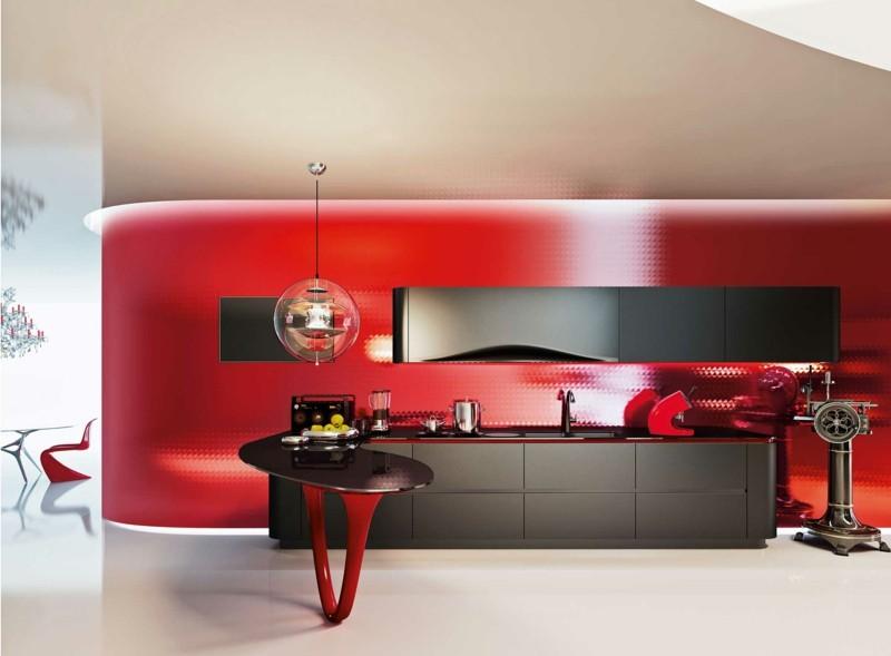 bonito diseño snaidero Ola rojo