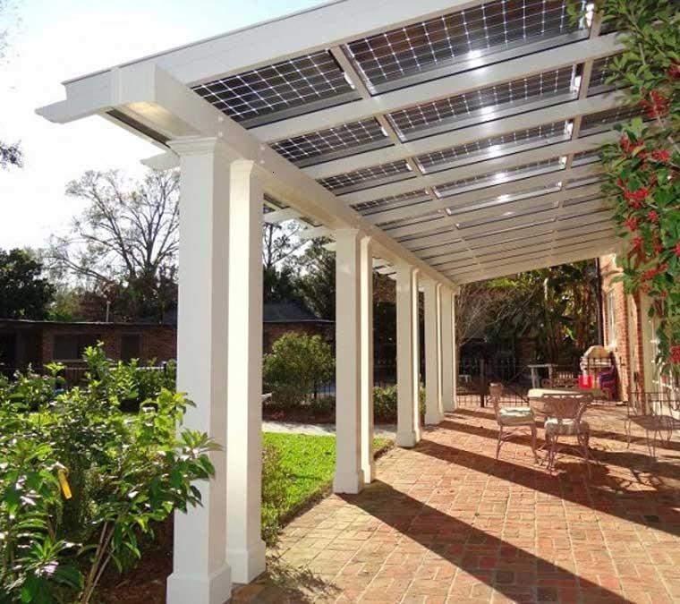 porche terraza placas solares