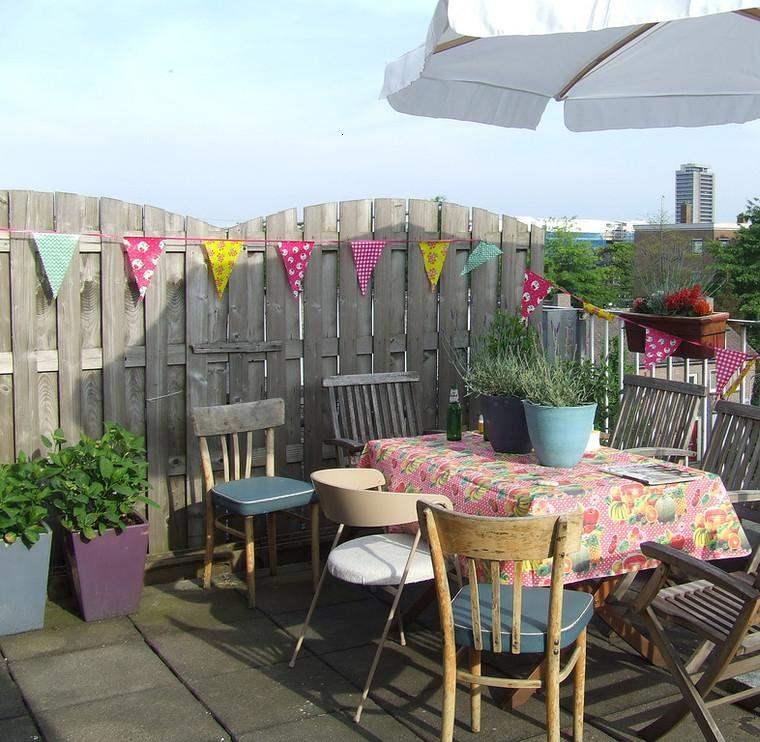 terraza pequeña deco colores