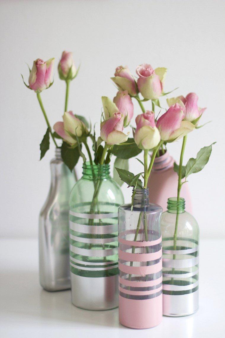botellas cristal bonitas lineas colores claros ideas