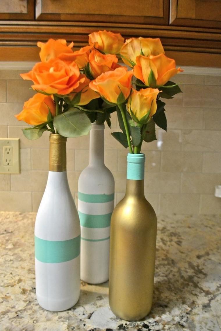 botellas cristal botelllas pintadas bonitas ideas