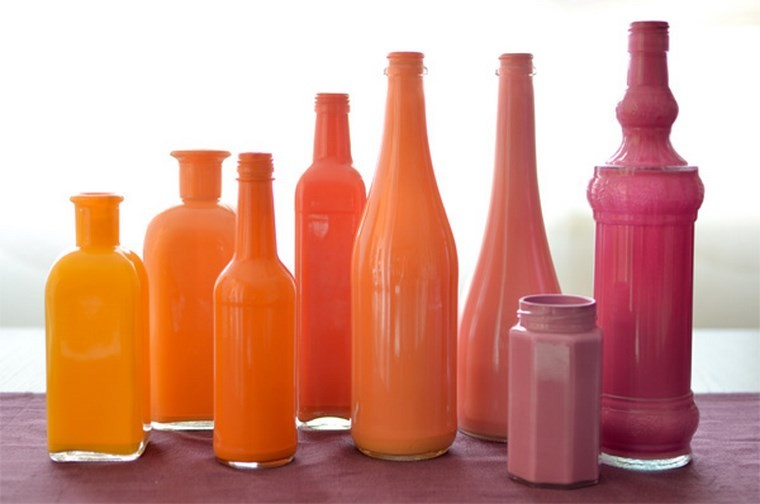 botellas cristal color naranja rosa ideas ideas de decoracin nautica