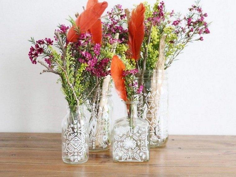 botellas cristal tarros color blanco ideas