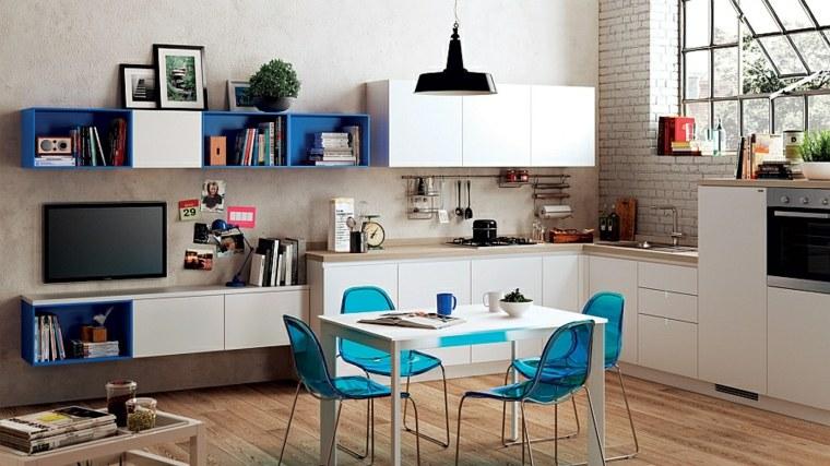 calida detalles cocinas salones flores moderna azules
