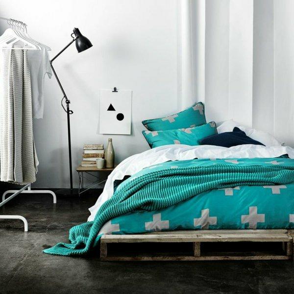 cama moderna palet madera
