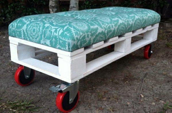 canapé ruedas palets madera