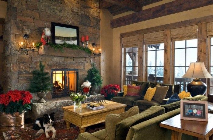 casa detalles decorado perro alfombras navidad