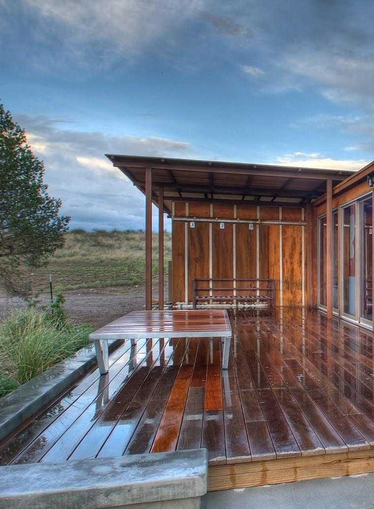 Porches para terrazas modelos de espacios semicubiertos for Casa moderna de campo