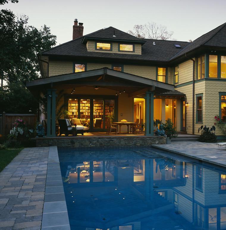 Terrazas cubiertas decoracion y dise o 48 ideas for Casas con jardin y piscina
