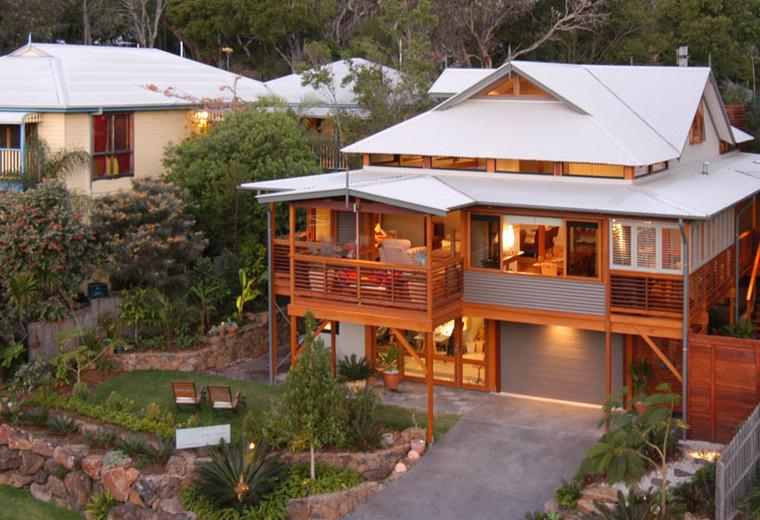 Porches para terrazas modelos de espacios semicubiertos - Diseno de jardines para casas de campo ...