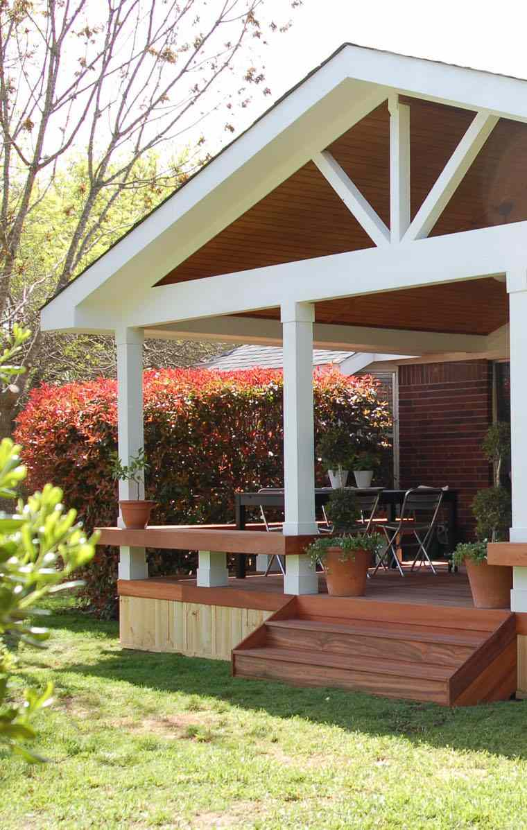 porches para terrazas modelos de espacios semicubiertos. Black Bedroom Furniture Sets. Home Design Ideas