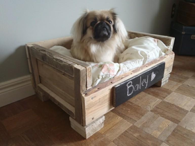 casita perro madera pallet
