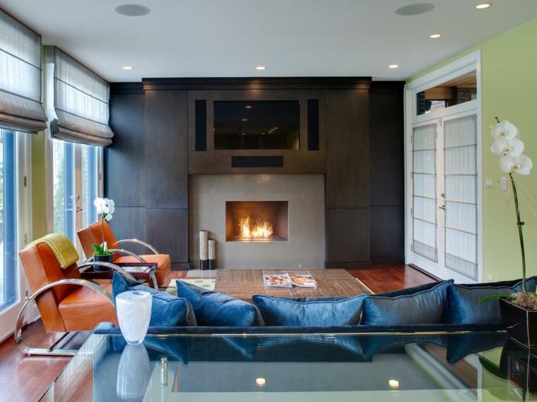 chimena interiore detalles fuego decorado