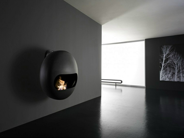chimeneas de diseño Andrea Crosetta chimenea burbuja ideas