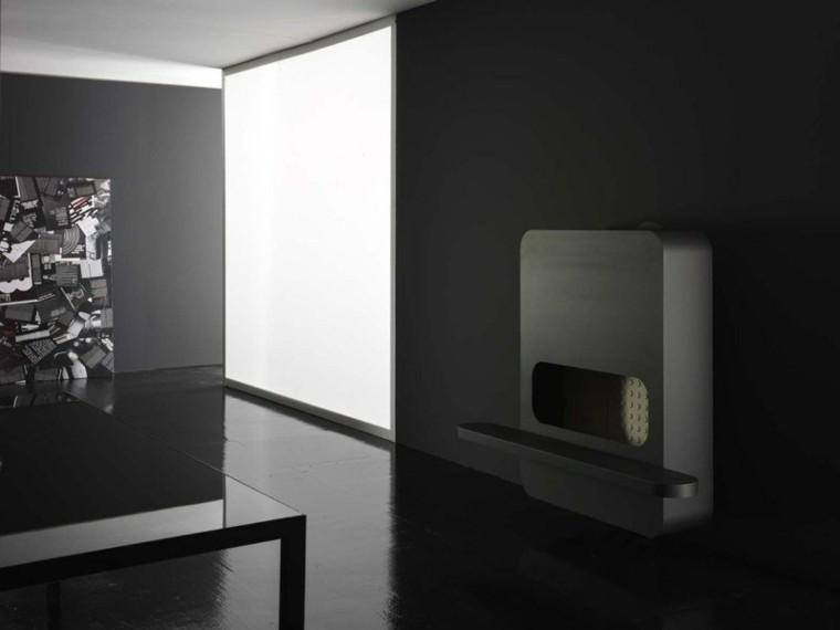 chimeneas de diseño Andrea Crosetta negra ideas