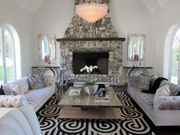 Chimeneas de obra rusticas para diferentes espacios for Espejos decorativos para chimeneas