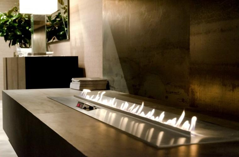 chimeneas gas preciosas casa acogedora ideas