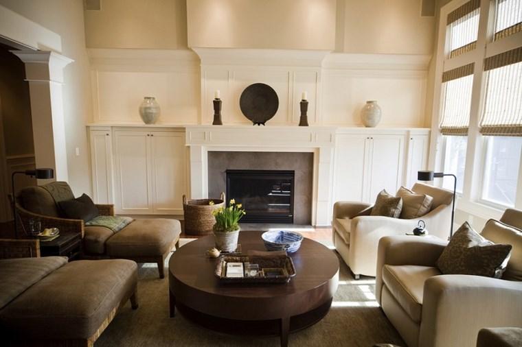 Decoracion chimeneas modernas para decorar y calentar - Decoracion de salones con chimenea ...
