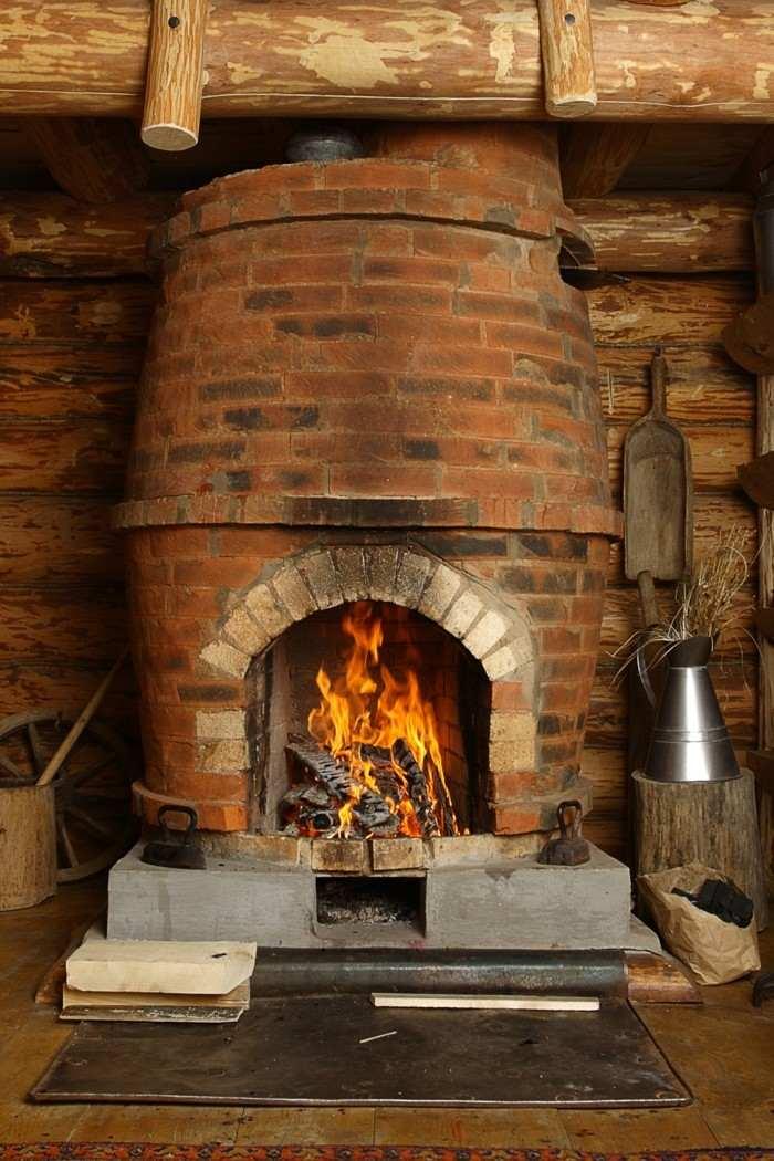 Chimeneas rusticas de le a para estancias acogedoras for Diseno de estufa hogar a lena
