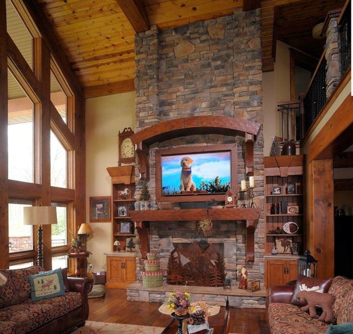 Chimeneas rusticas de le a para estancias acogedoras - Chimeneas rusticas para casas de campo ...