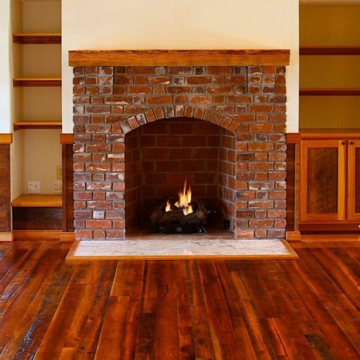 chimeneas rusticas de leña ladrillos madera