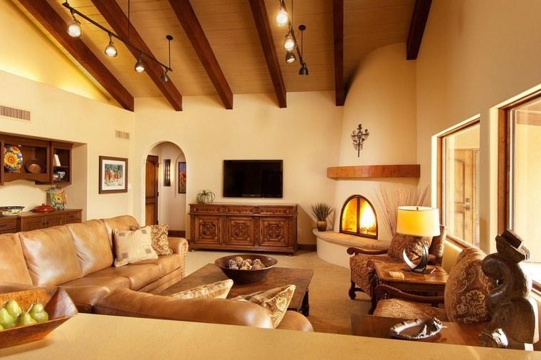 chimenea rustica foto muebles comodos decoracion ideas