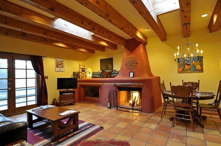 Chimeneas rusticas fotos que impresionan y enamoran - Decoracion de chimeneas en salones ...