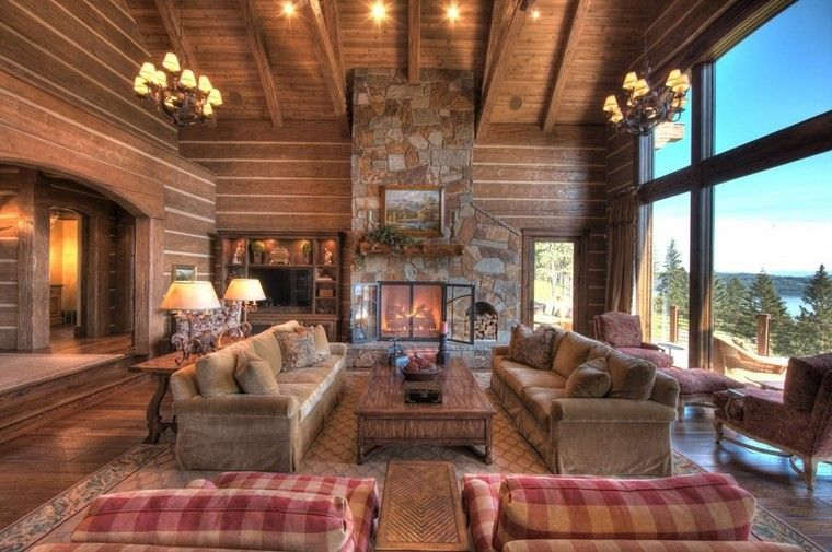 chimenea rustica foto sofas grandes ideas