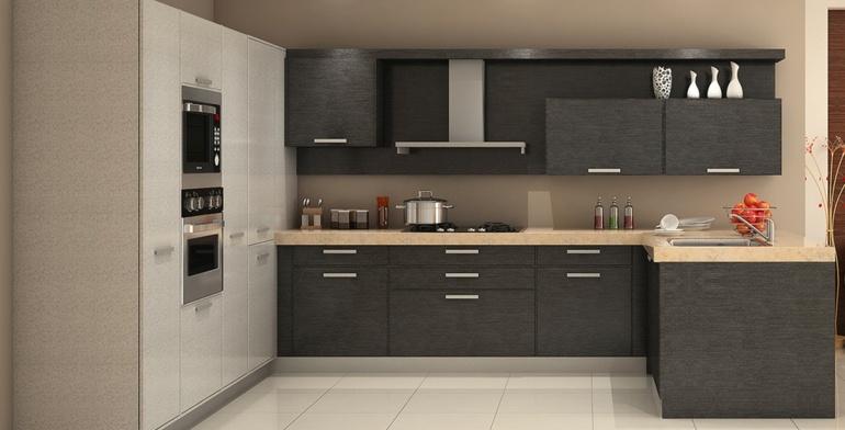 muebles cocina madera gris