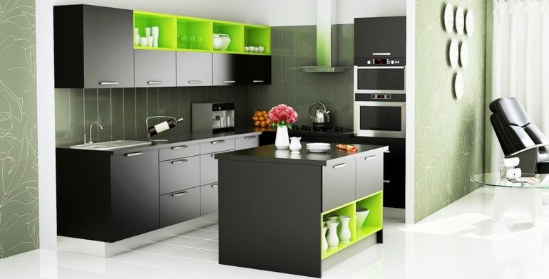 muebles cocina color negro
