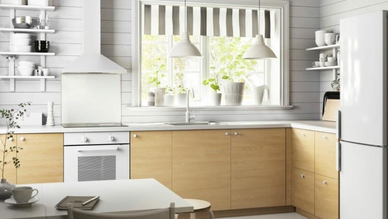 cocina moderna blanca madera laminada
