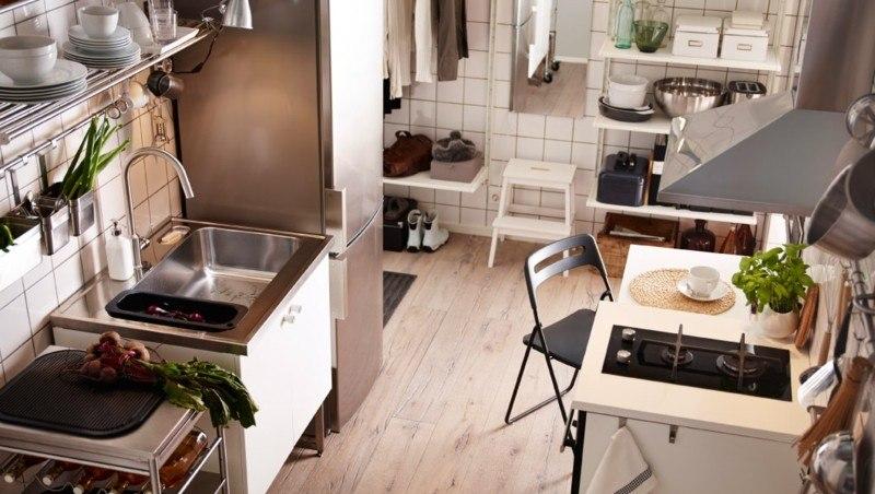 cocina moderna colores neutros marrones