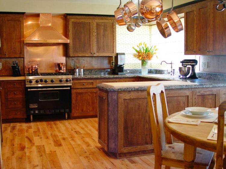 cocina diferente variaciones diseños cobre