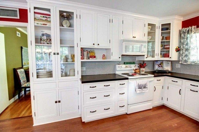 Cocina dise o y estlo en 36 opciones impactantes - Cocina blanca encimera negra ...
