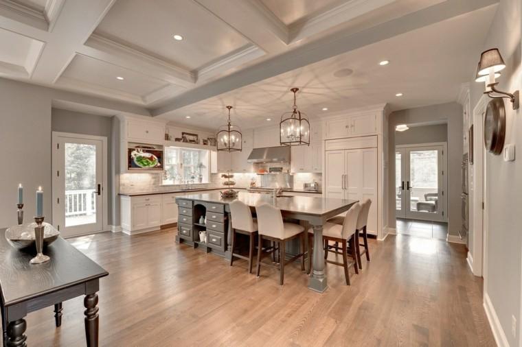 Cocina dise o y estlo en 36 opciones impactantes Diseno de cocinas grandes y modernas