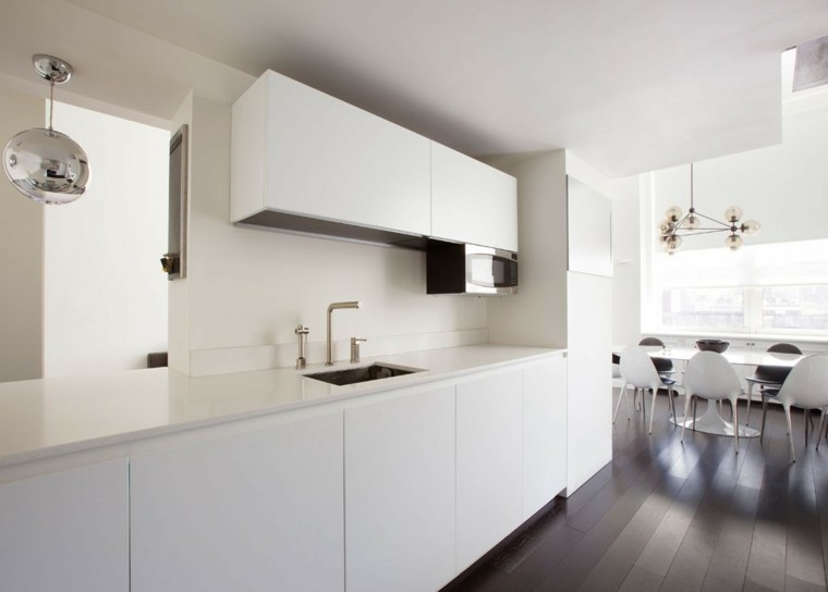 cocinas diseno moderno minimalista blanco ideas