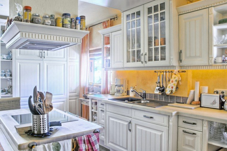 cocinas diseno moderno muebles madera blanca ideas