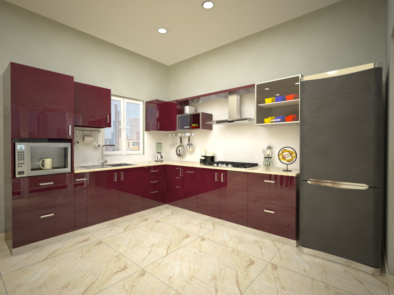 Cocinas peque as en forma de l cincuenta dise os - Muebles de cocina modernas ...