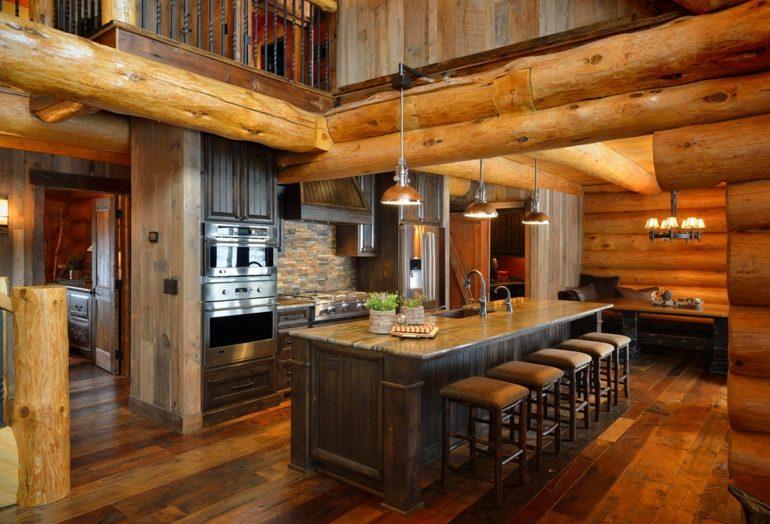 Decoración de cocinas rústicas lujosa estilo rçústico