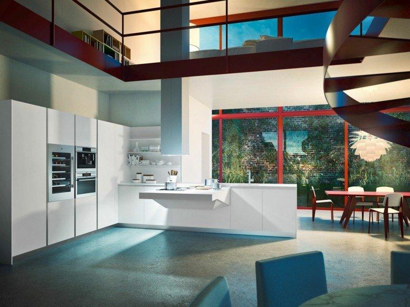 cocina moderna estilo futurista modelo