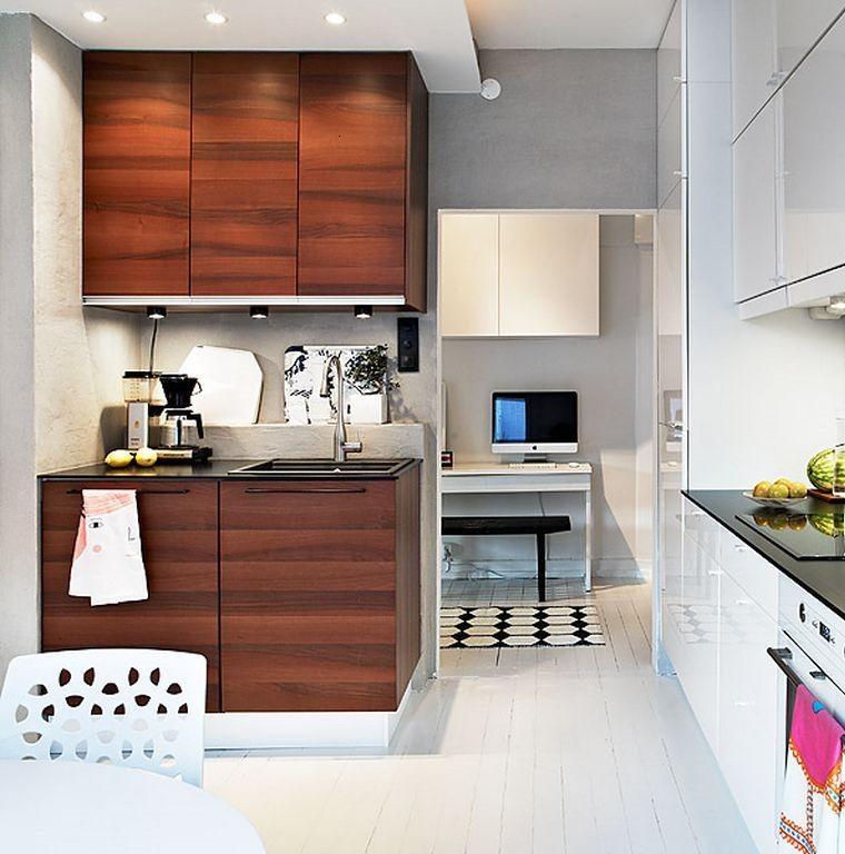 Decoraci n de cocinas chicas ideas para ahorrar espacio for Cocinas en l modernas