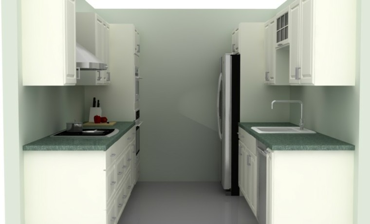 Cocinas pequeñas en forma de u   38 diseños