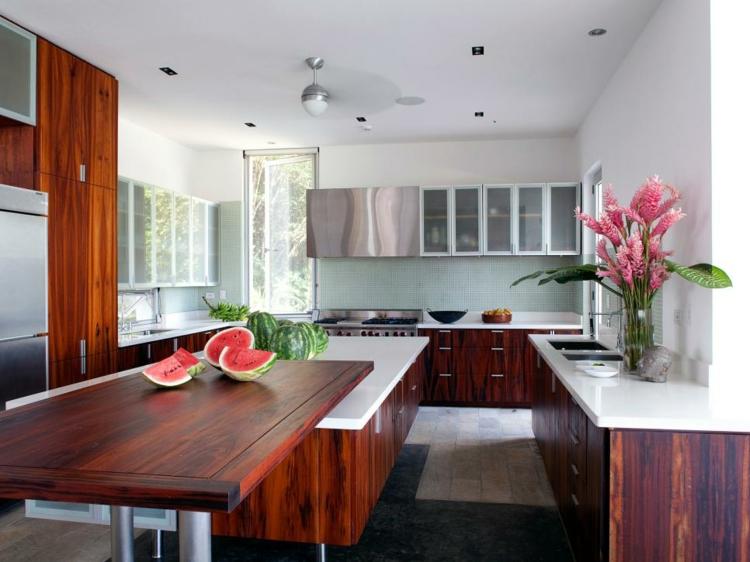 cocinas colores diseño base estantes lineas