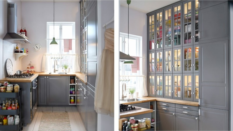 cocinas ikea color gris