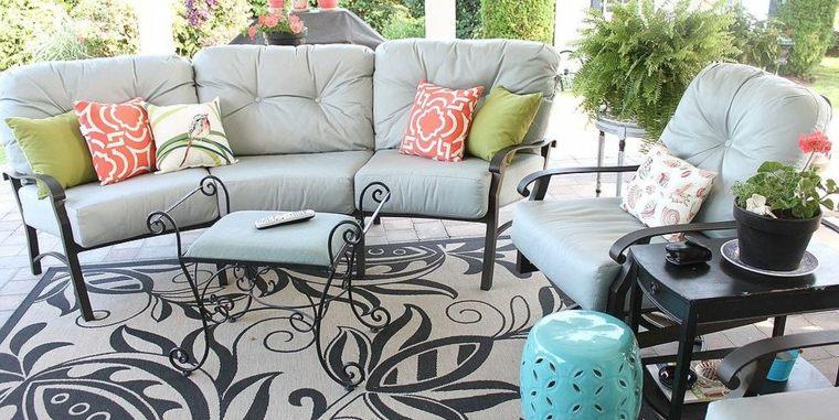 modern design deco colored cushions