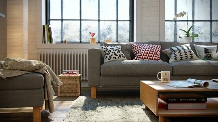 alfombras estilos casas ventanas flores