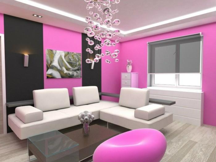 color rosa ideas detalles madera pared cuadros