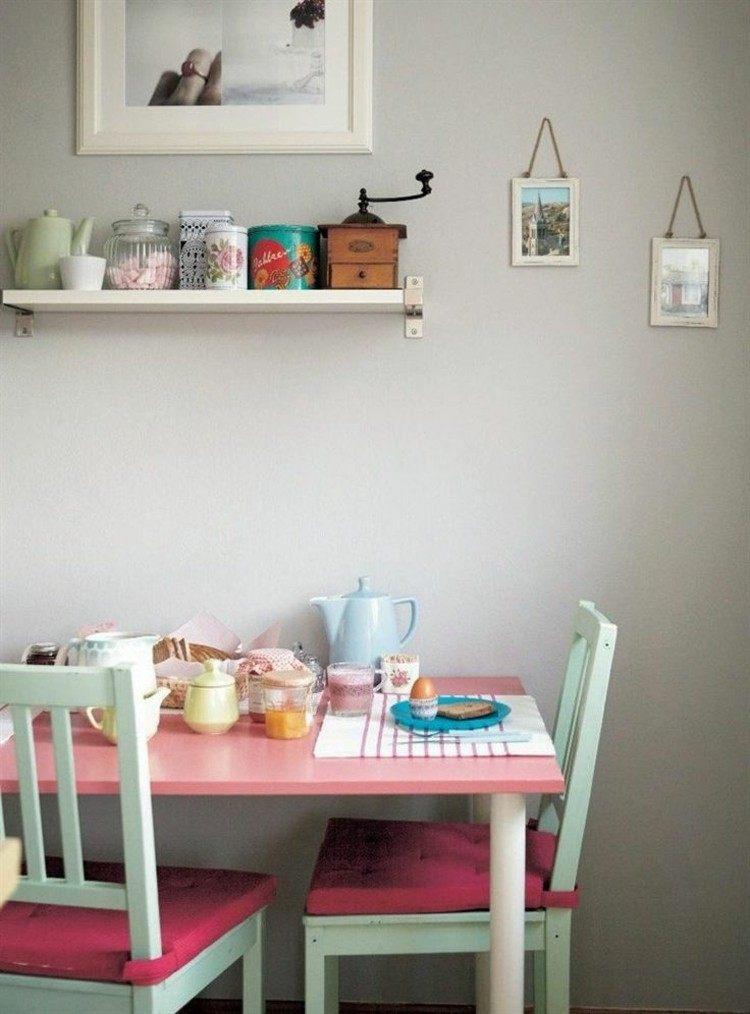 colores estilos rosa ideas comedor azules